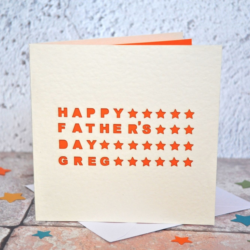 Laser Cut Step Dad Father's Day Card