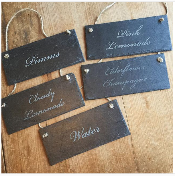 Personlaised Custom Design Slate Sign Wedding