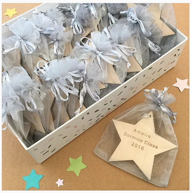 personalised wooden star teach class gift, end of year