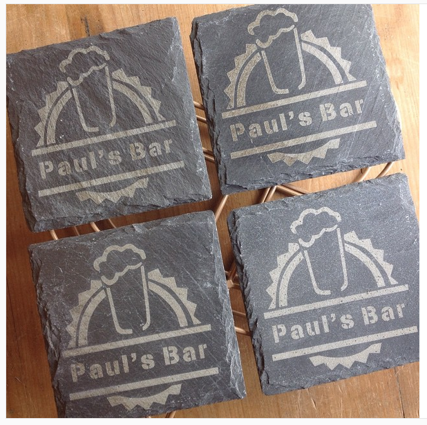 Personalised Slate Coasters for bar/ gift