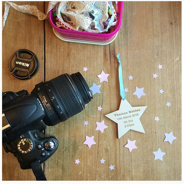 Personalised New Baby Wooden Star Keepsake Gifts
