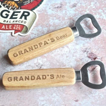 Personalised Grandpa's Beer Bottle Opener