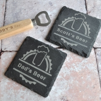Personalised Beer Slate Coaster