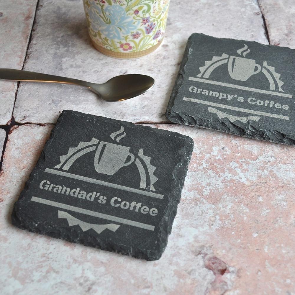 Personalised Coffee Slate Coaster