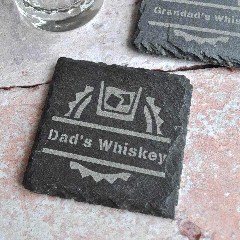 Personalised Whiskey Slate Coaster