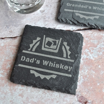 Personalised Whiskey Slate Coaster