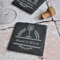 Personalised Wine Slate Coaster