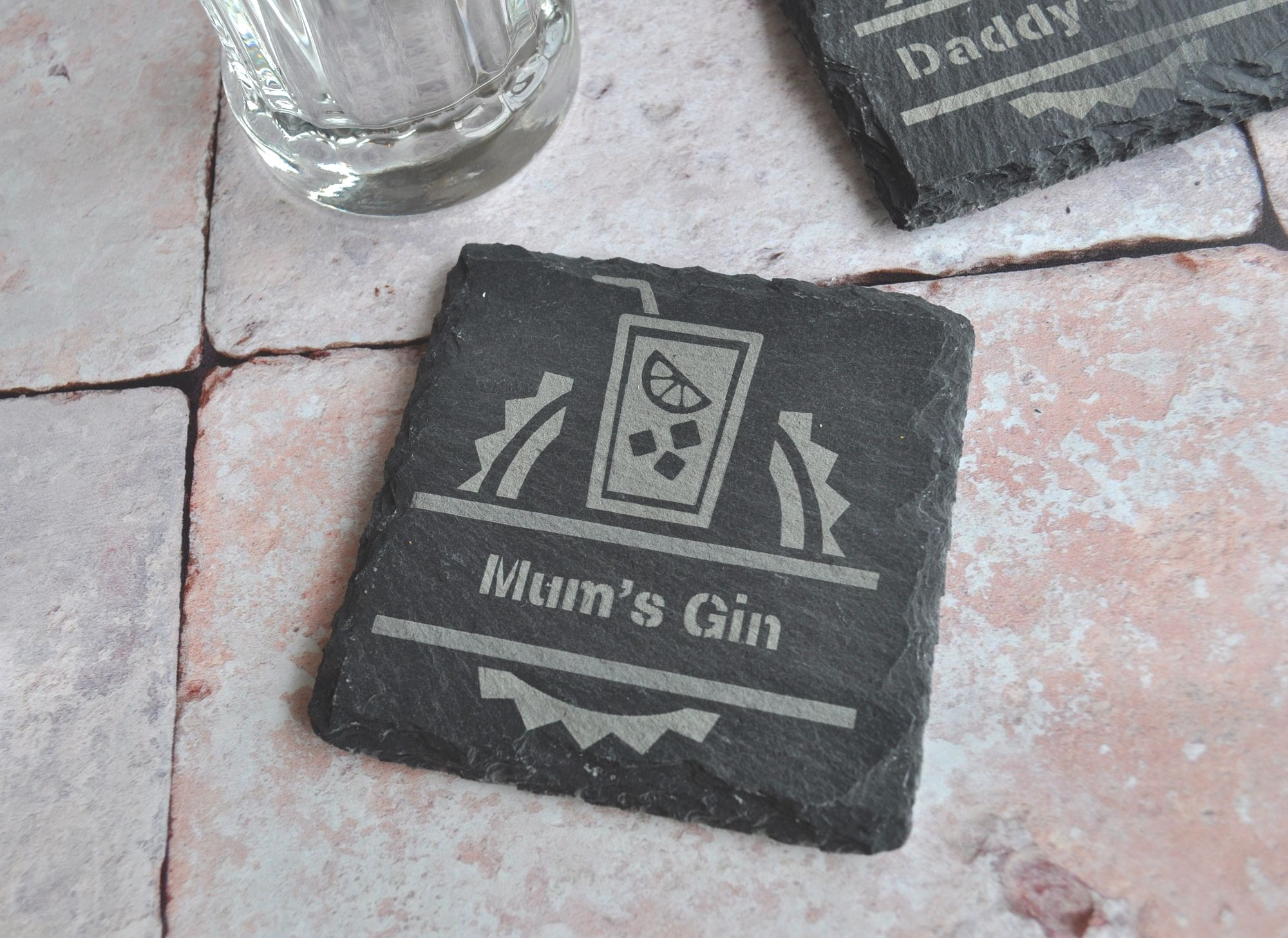 Personalised Slate  Gin Coaster Gift