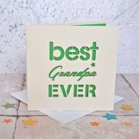 Best Grandpa Ever Laser Cut Card