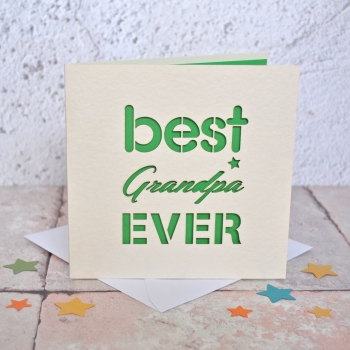 Best Grandpa Ever Laser Cut Card