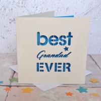 Best Grandad Ever Laser Cut Card