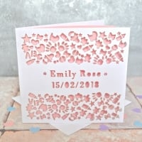 Personalised Laser Cut New Baby Card