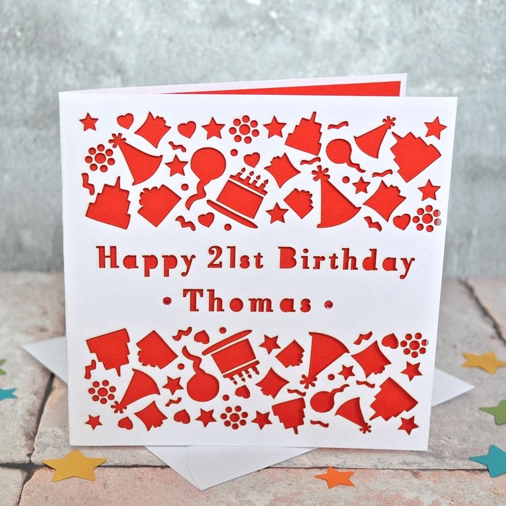 Personalised Laser Cut Birthday Card