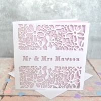 Personalised Laser Cut Wedding Card