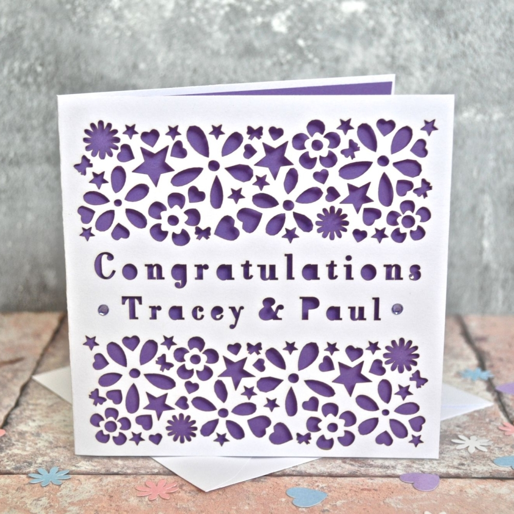 Personalised Laser Cut Congratulations Card