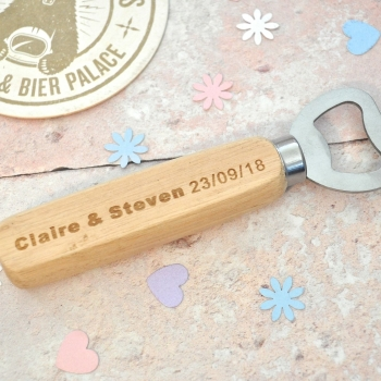 Personalised Wedding Day Bottle Opener
