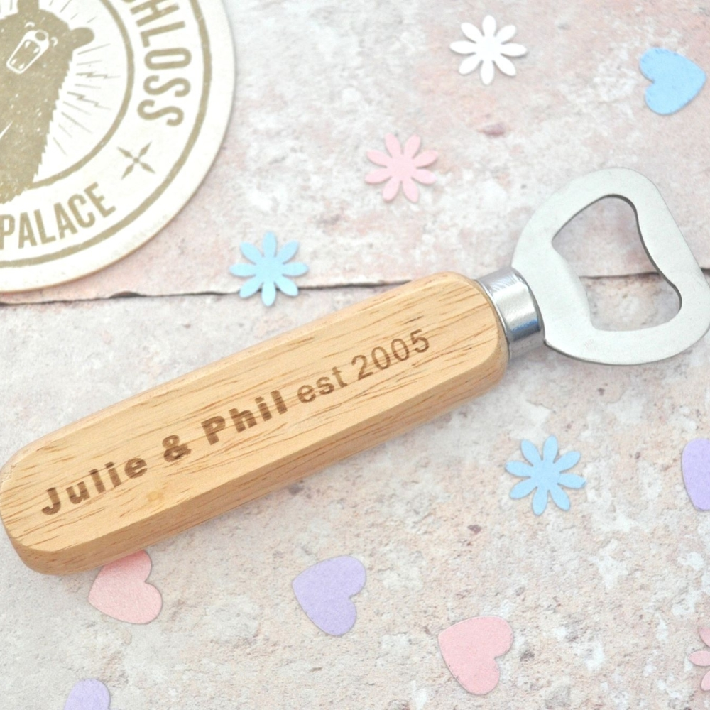 Personalised Keepsake Anniversary Bottle Opener
