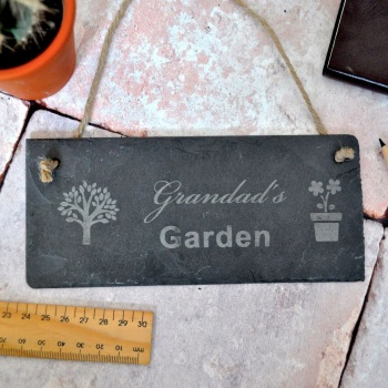 Personalised Garden Slate Sign Gift