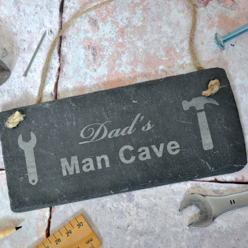 Personalised Man Cave Slate Sign