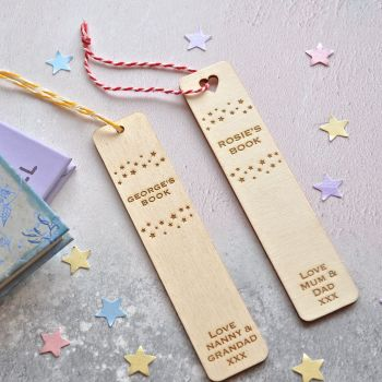 Personalised Wooden Star Bookmark