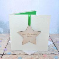 Personalised Birthday Star Keepsake Card