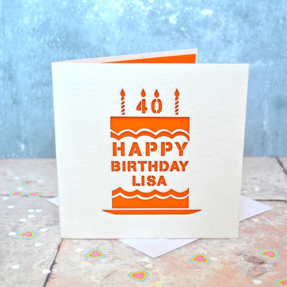 Personalised Star Laser Cut Birthday Card