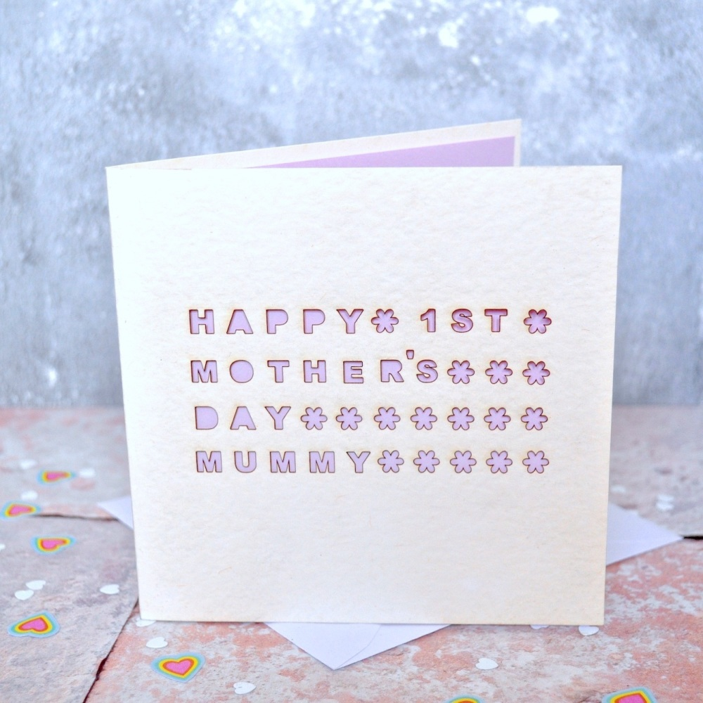Laser Cut Mum Mother's Day Card