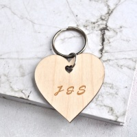 Personalised Initial Heart Keyring