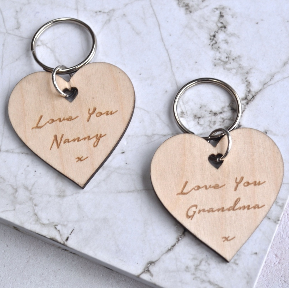 Personalised Love You Nanny Keyring