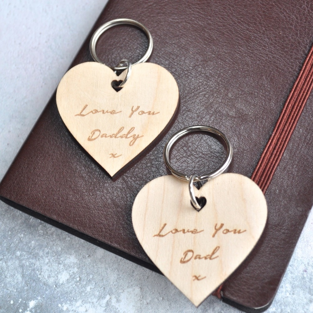 Personalised Love You Daddy Keyring