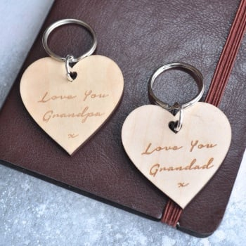 Personalised Love You Grandad Keyring