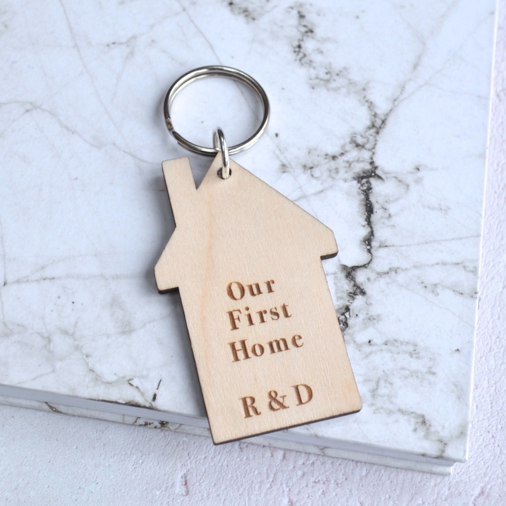 Personalised First Home House Keyring
