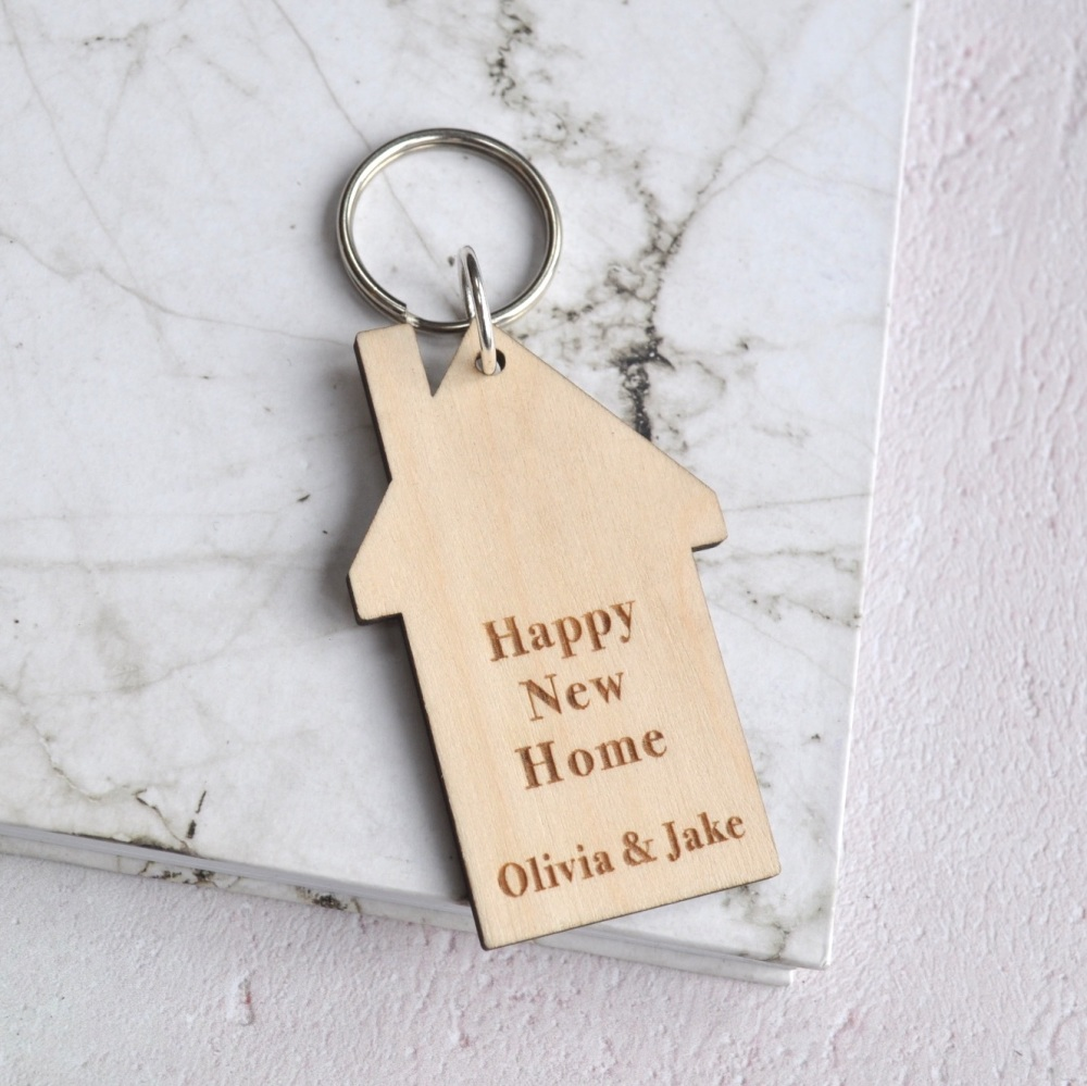 Personalised Happy New Home Keyring