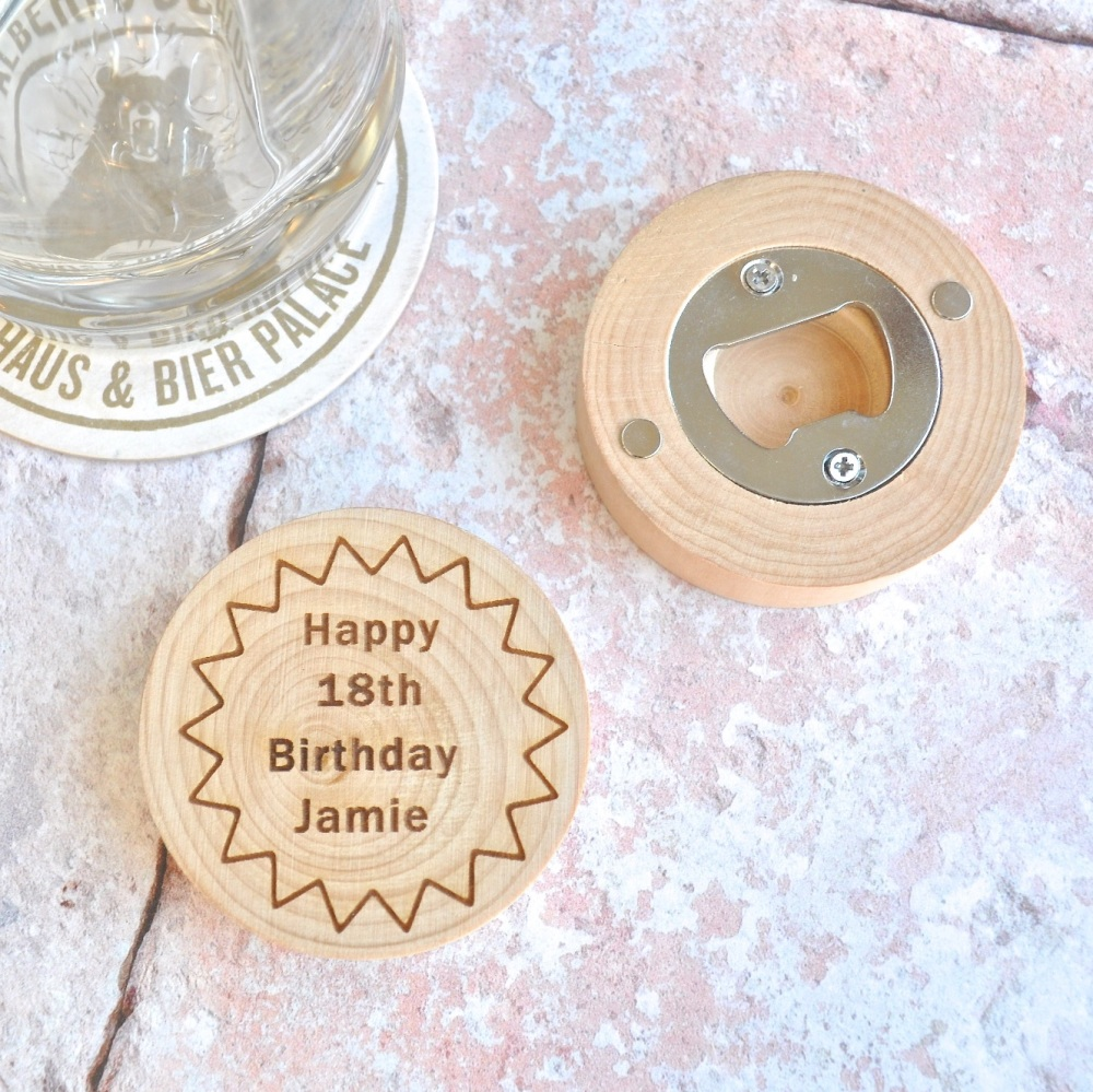 Personalised Magnetic Birthday Bottle Opener