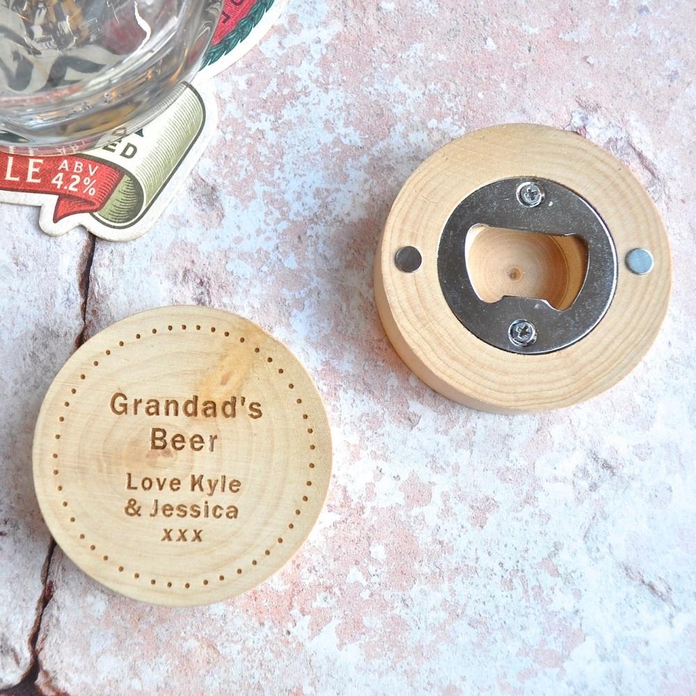 Personalised Magnetic Grandad's Bottle Opener