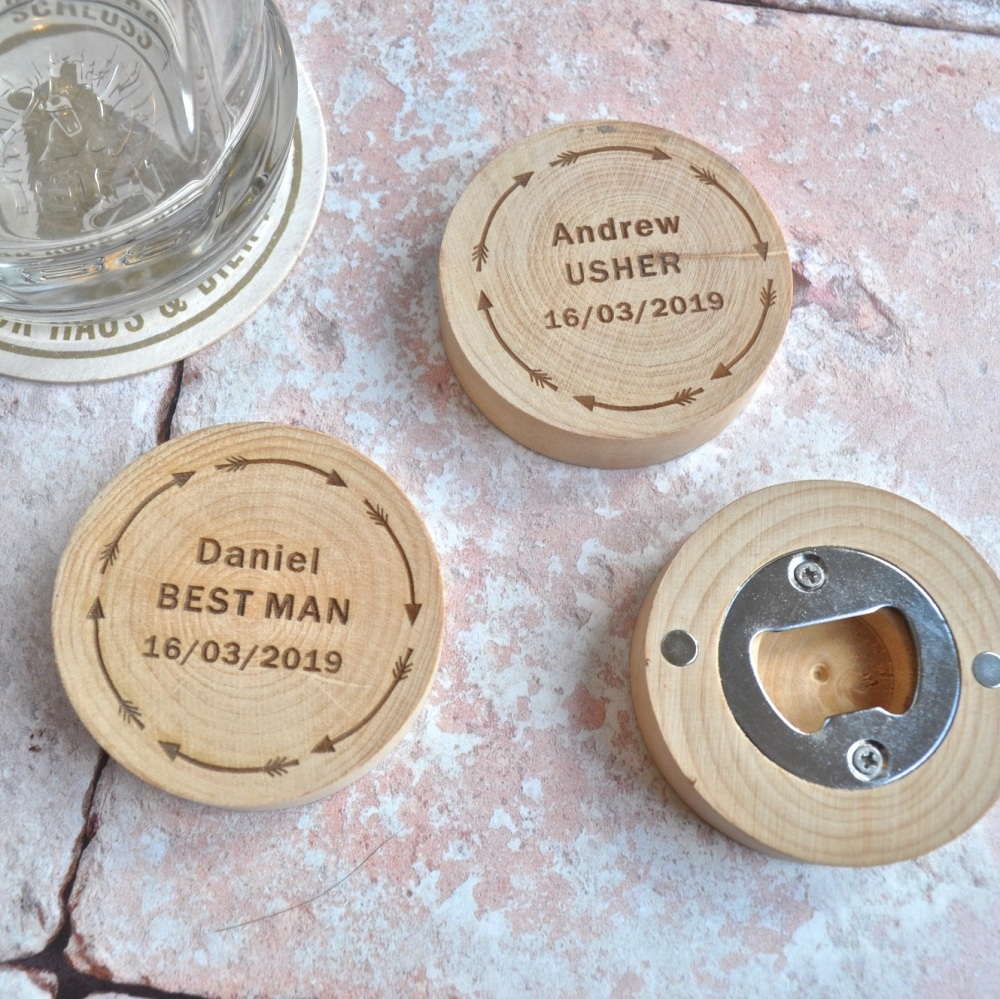 Personalised Magnetic Best Man Bottle Opener