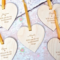 Will You Be My Bridesmaid? Heart
