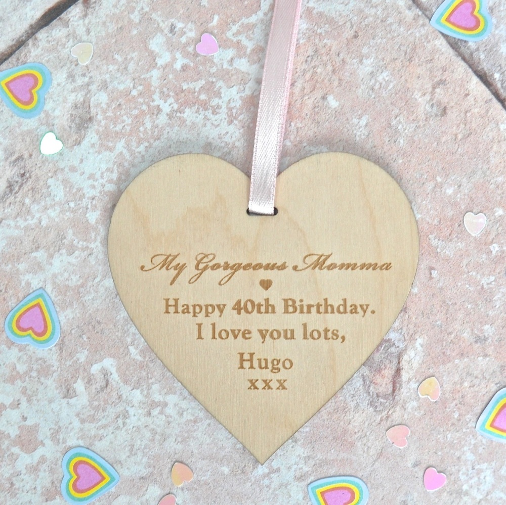 Special Birthday Message Wooden Heart