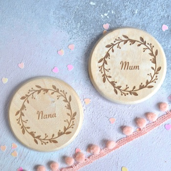 Personalised Floral Compact Mirror