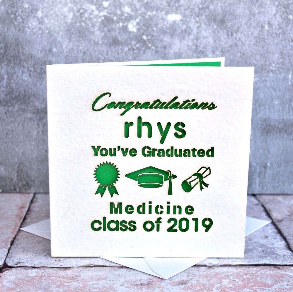 Personalised Laser Cut You've Graduated Card