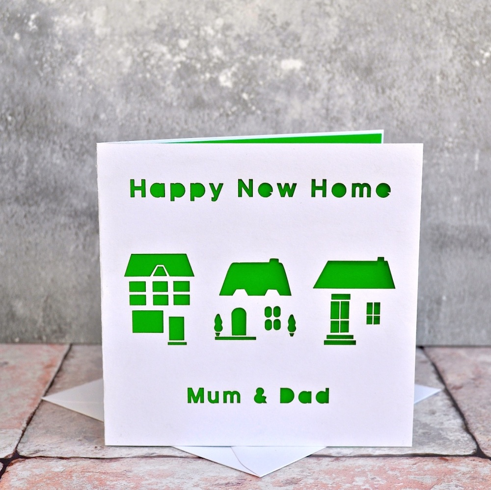 Personalised Laser Cut New Home Card