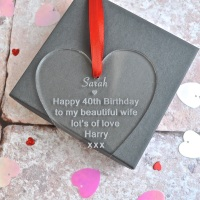 Birthday Message Acrylic Heart