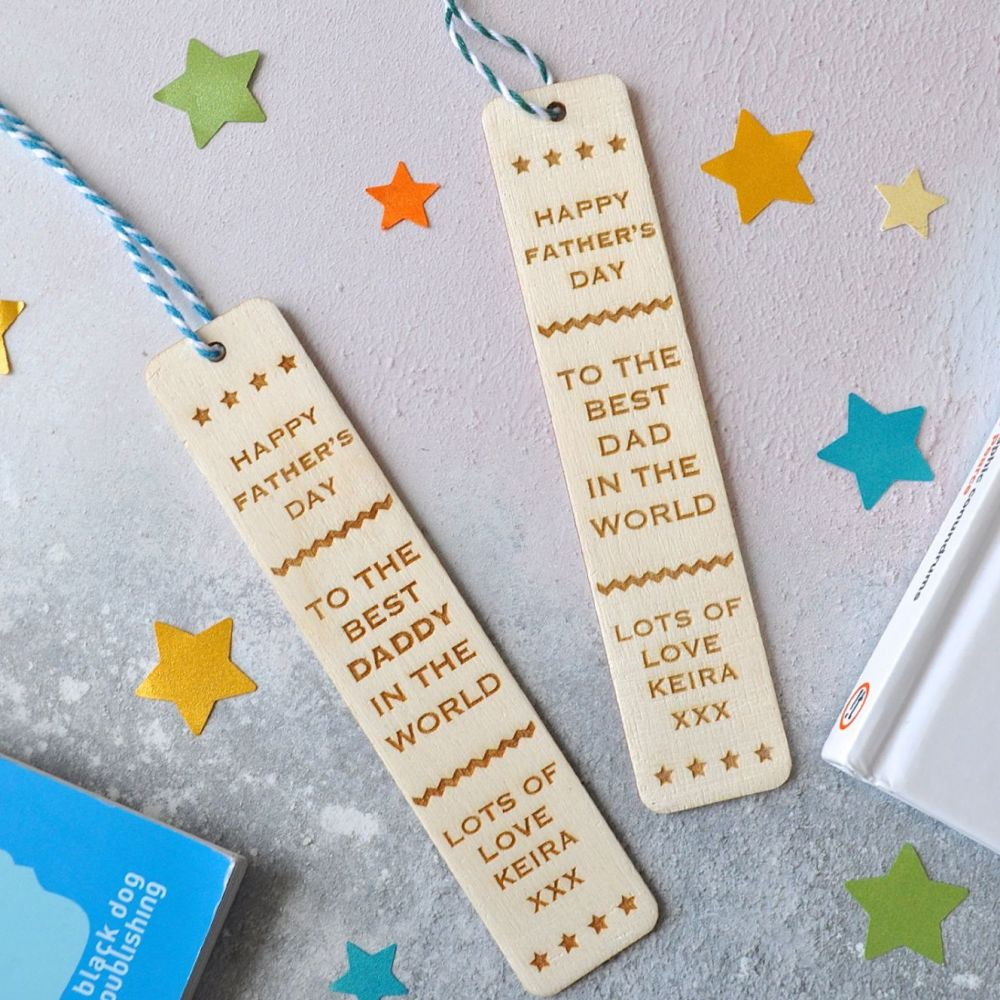 Personalised Father's Day Wooden Bookmark