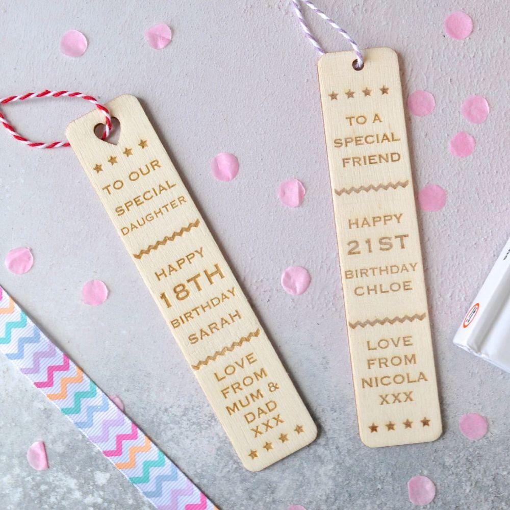 Personalised 'Birthday' Bookmark