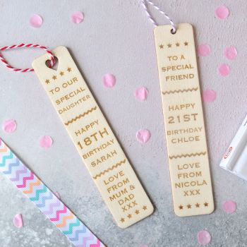 Personalised 'Birthday' Bookmark