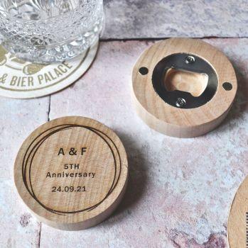 Personalised Anniversary Bottle Opener