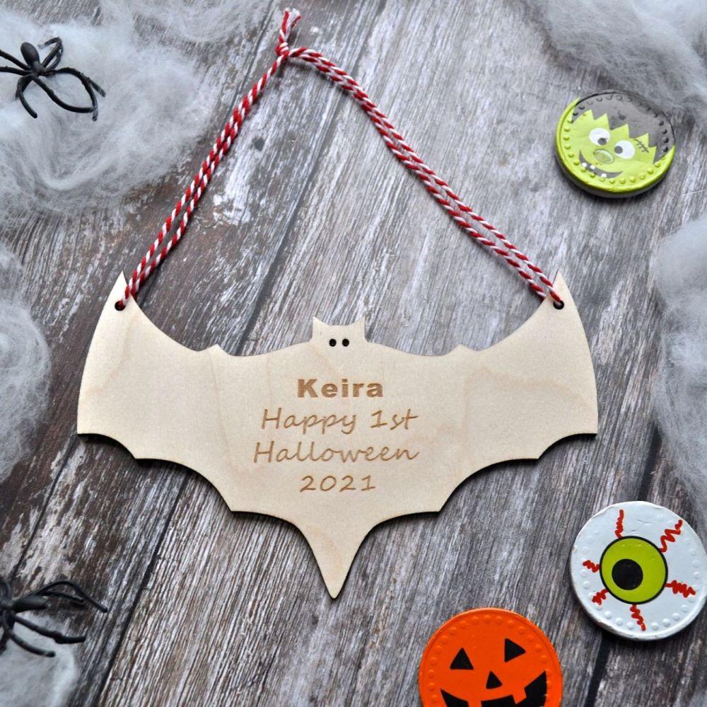 Personalised Halloween Bat Decoration