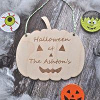 Personalised Halloween Pumpkin Decoration