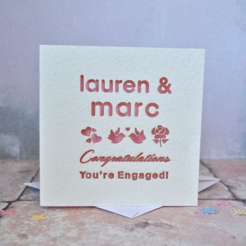 Personalised Laser Cut Engaged Card