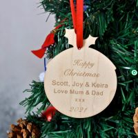 Personalised Christmas Pudding  Message Decoration